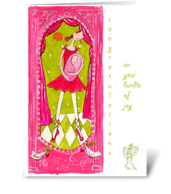 ballet baby greeting card