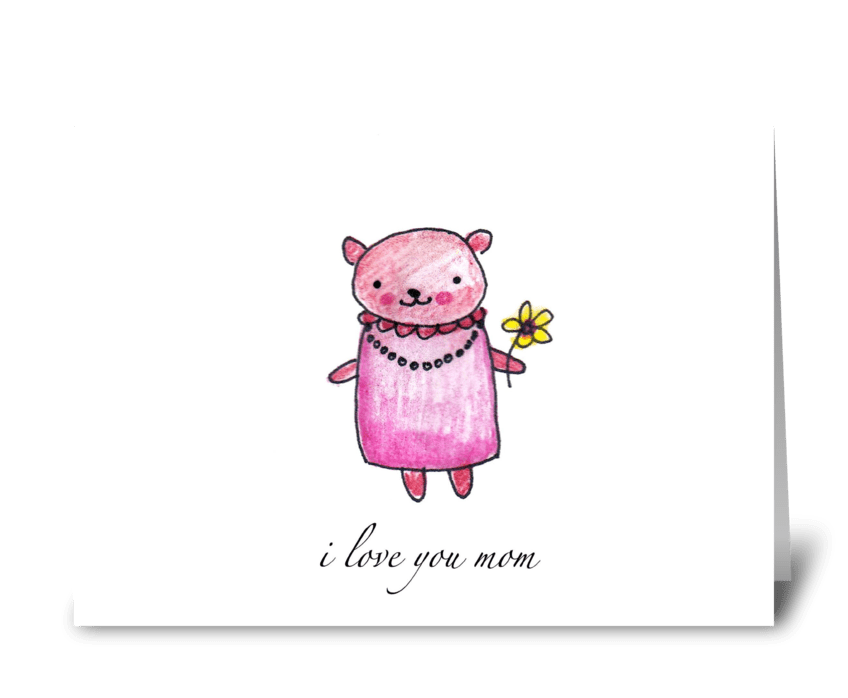 A Bear for Mom greeting card
