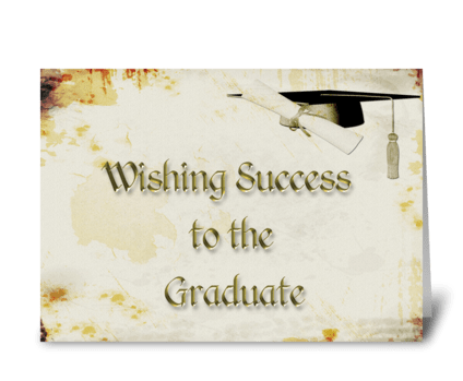 Graduate Congratulations Grunge greeting card