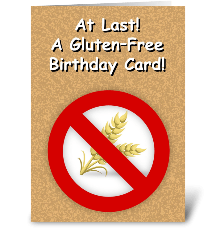 Gluten Free Birthday Card greeting card