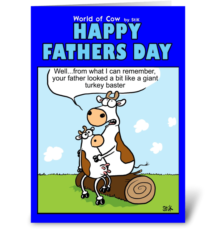 Turkey Baster Father's Day Card greeting card