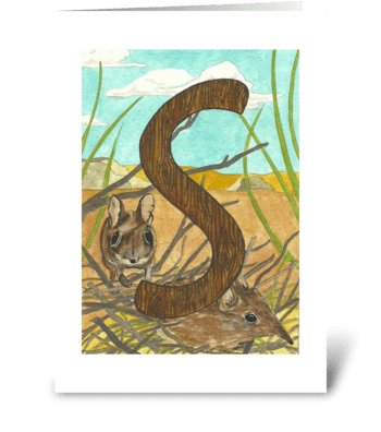 S for Shrew greeting card
