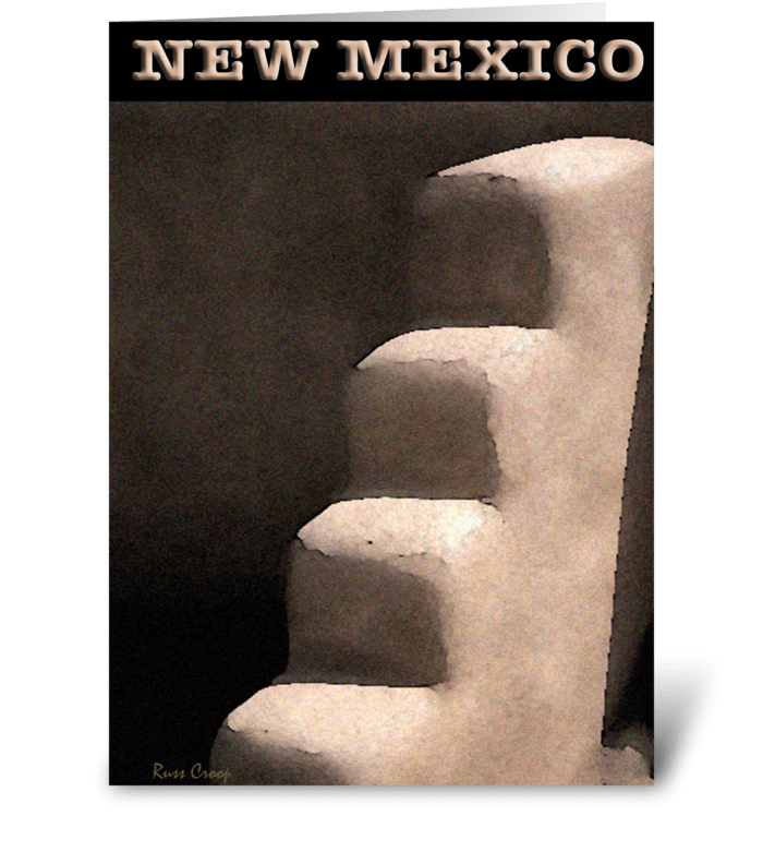 New Mexico Travel Poster greeting card