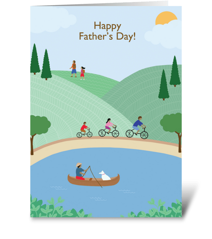 Father's Day Great Outdoors greeting card