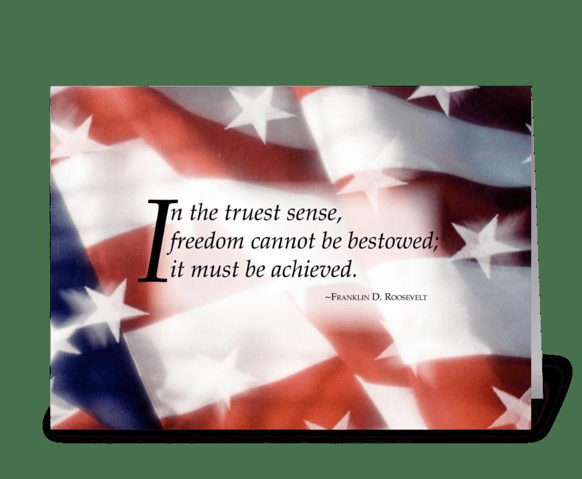 3445 Freedom Flag greeting card
