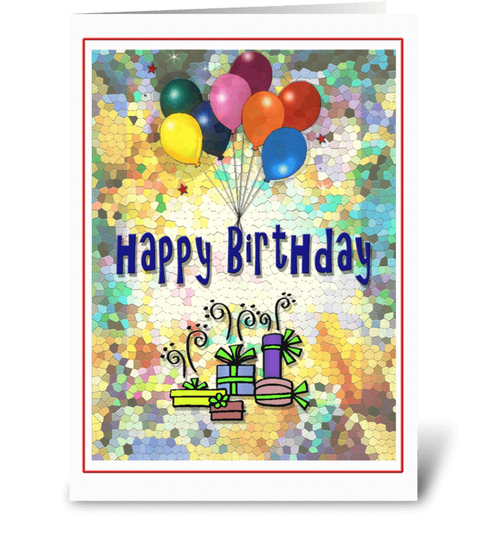 Colorful Happy Birthday! greeting card