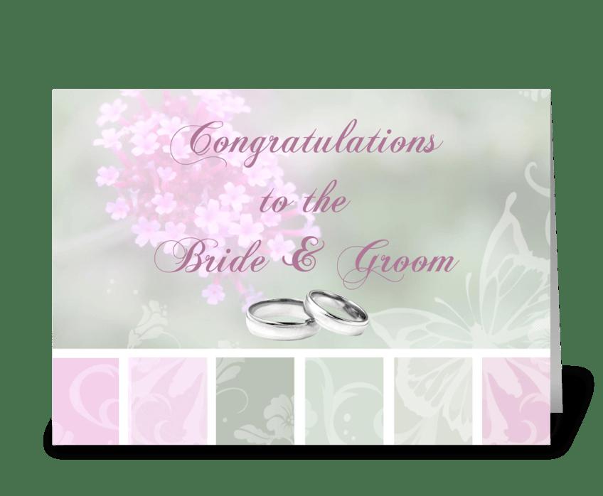 Congratulations, Bride & Groom greeting card