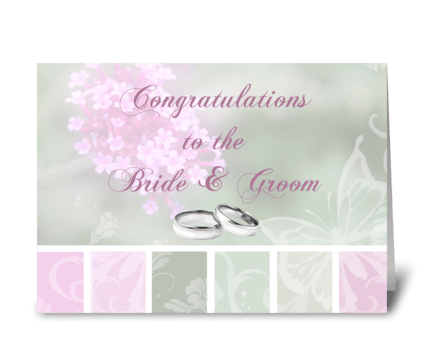 Congratulations, Bride & Groom greeting card