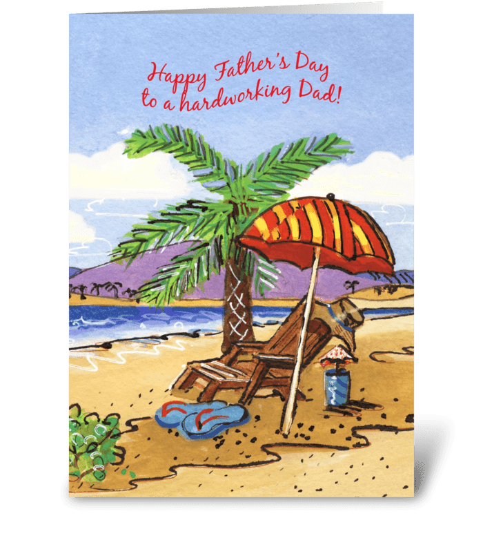 Father's Day Vacation greeting card