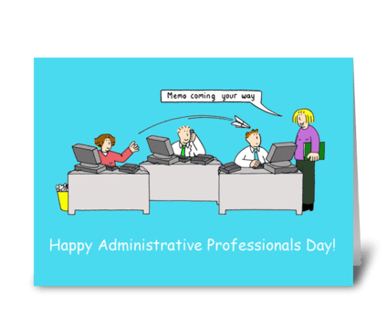 Administrative Professional Day, Cartoon greeting card