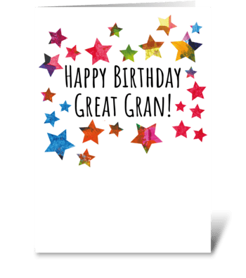 97 Great Gran Birthday Card greeting card