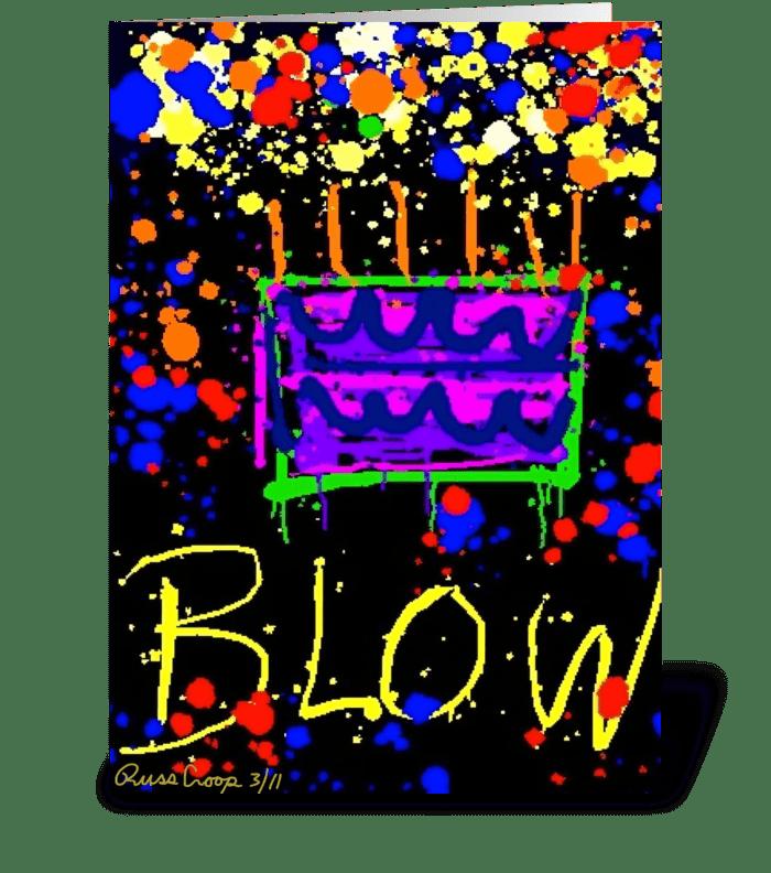 Blow greeting card