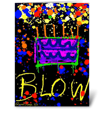 Blow greeting card