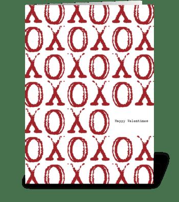 XOXO Hugs & Kisses Valentine's Day greeting card