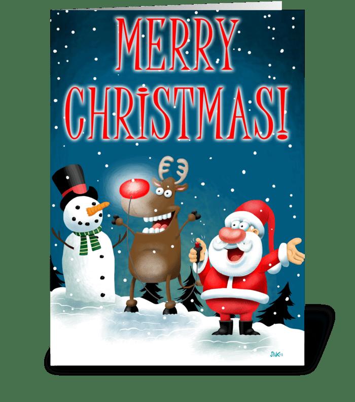 Christmas Lights! greeting card