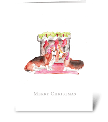 Keeping Warm at Christmas greeting card