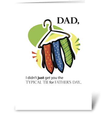 Father's Day Ties, Humorous greeting card