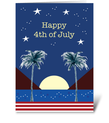 The Night of the Fourth greeting card