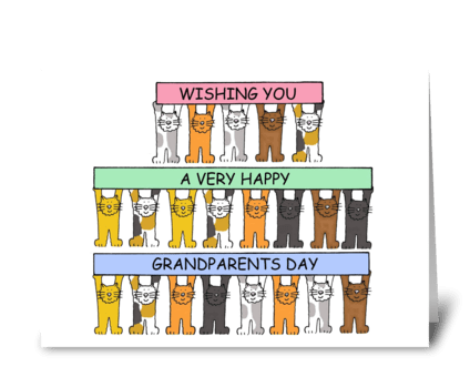 Happy Grandparents Day September 10th. greeting card