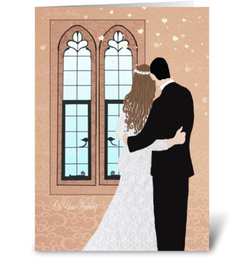 On your wedding greeting card
