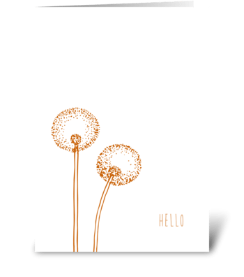 dandelion whimsy greeting card