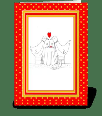 Valentine Love Doves greeting card