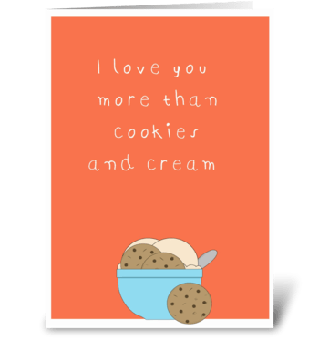 cute love you more then greeting card
