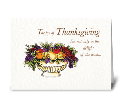 Thanksgiving Fruit Bowl greeting card