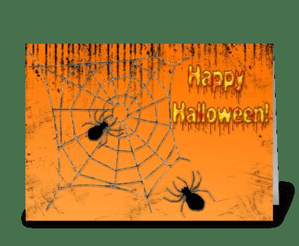 Halloween Spider Web greeting card