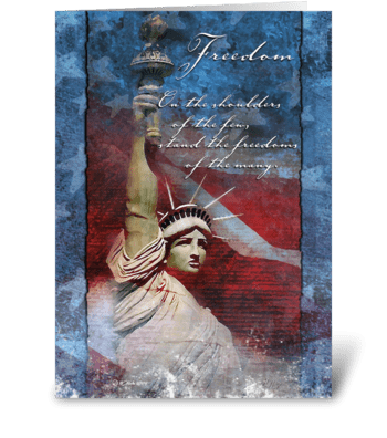 Freedom Patriotic Greeting Card greeting card
