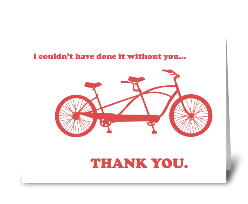 Thank You Bicycle greeting card