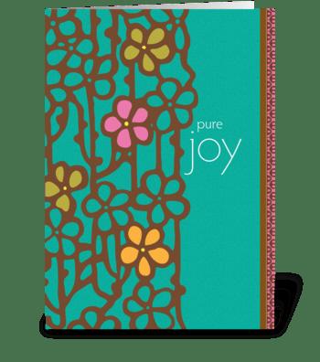 pure joy greeting card