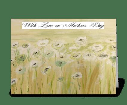 White Flower Field greeting card