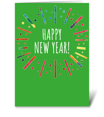 73 New Year Burst greeting card