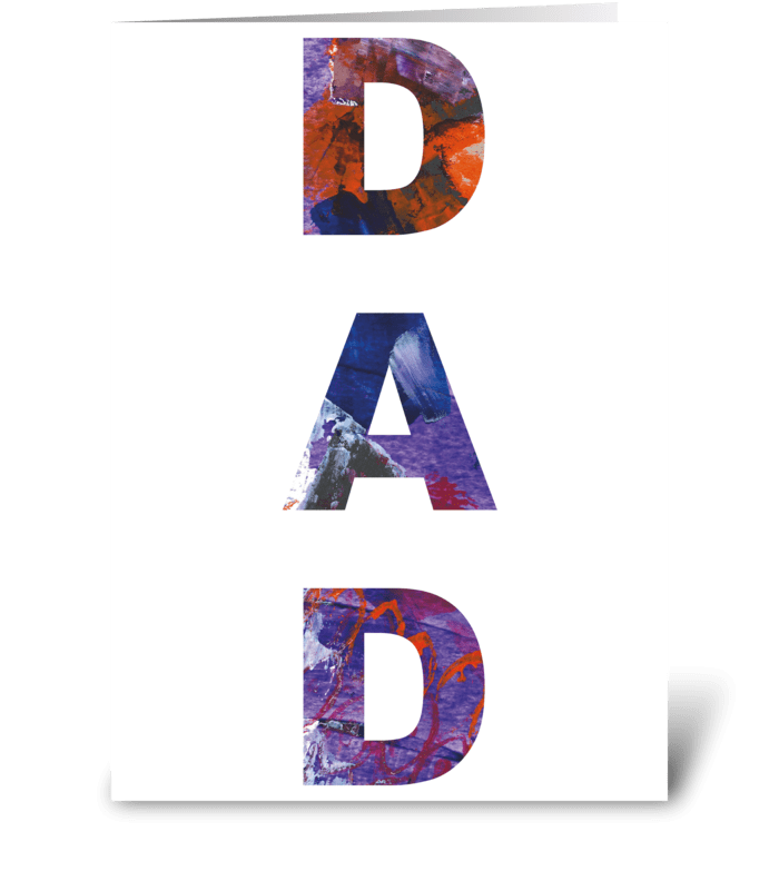 4 Dad Card Vertical Abstract greeting card