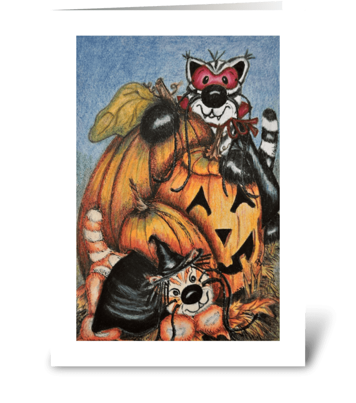 Jabber & Sweets Halloween! greeting card