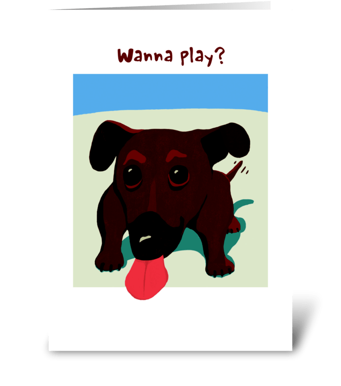 Dachshund Friendship greeting card