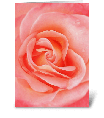 Floral_rose-pink greeting card