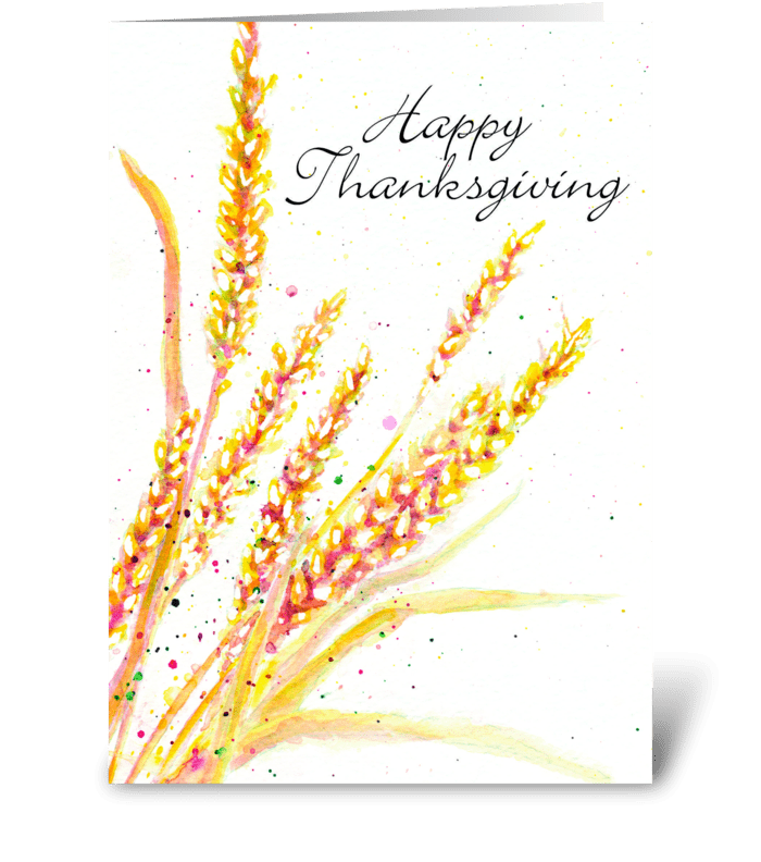 Wishes for You at Thanksgiving greeting card