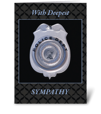 Sympathy Police Badge Law Enforcement greeting card