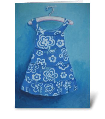 Cora's dress greeting card