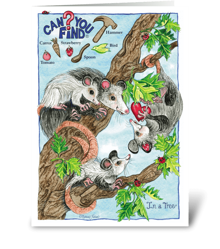 Can You Find Activity Puzzle Card greeting card