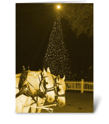 Sleigh Bells Ring greeting card