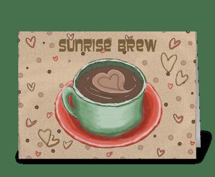 Sunrise Brew Card greeting card
