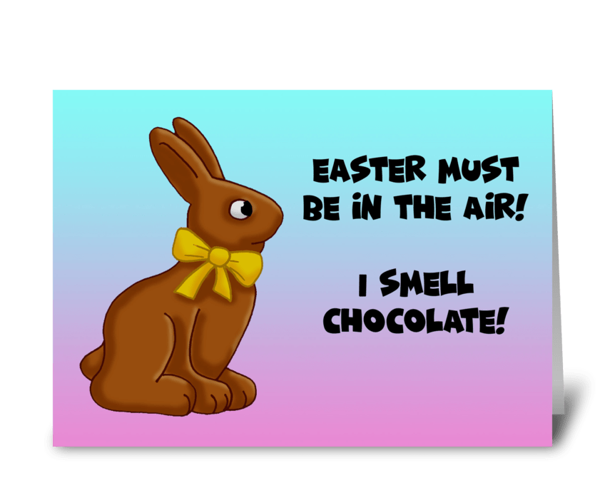 Easter Must Be In The Air greeting card