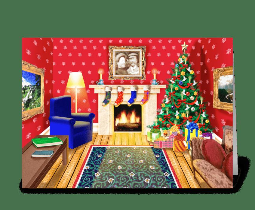 Homestyle Christmas greeting card