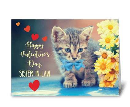 Sister-in-Law Love Valentine greeting card