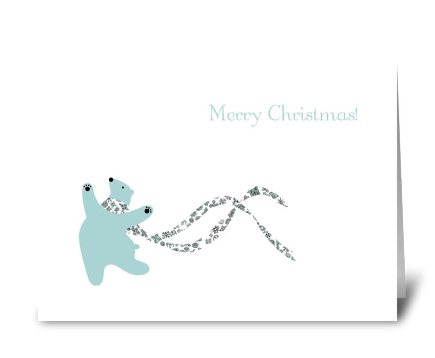 Dancing Polar Bear greeting card