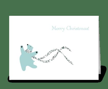 Dancing Polar Bear greeting card