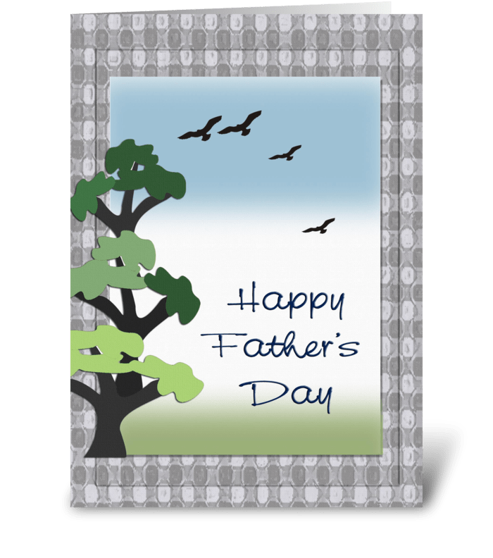 Happy Father's Day, Trees greeting card
